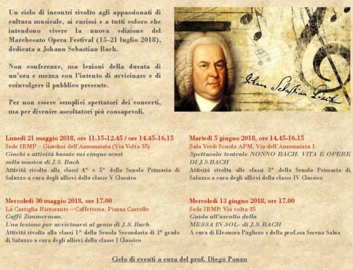 ASPETTANDO IL MARCHESATO OPERA FESTIVAL _ Progetto Bach