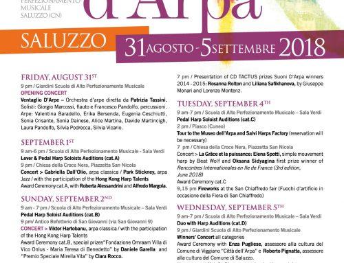 INTERNATIONAL FESTIVAL OF HARP 9TH EDITION – il Programma