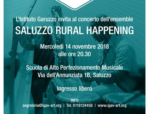 SALUZZO RURAL HAPPENING  _ 14 novembre 2018 _ Ensemble in concerto